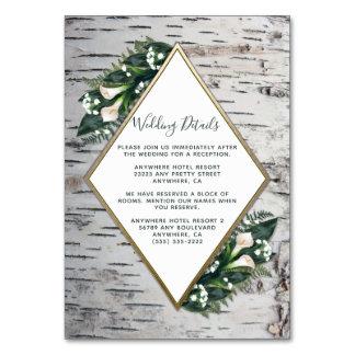 Kort för mellanlägg för bröllop för skogsmark för
