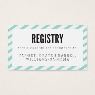 Kort för mellanlägg för registrering för randar