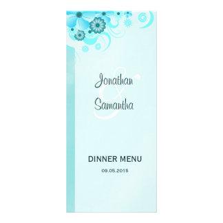 Kort för meny för middag för bröllop för