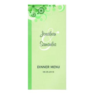 Kort för meny för middag för bröllop för ljus