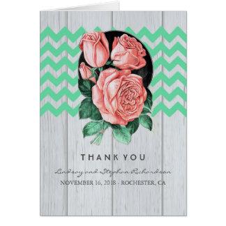 Kort för mint- och rosabrölloptack