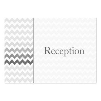 Kort för mottagande för ombre för modsparregrått set av breda visitkort