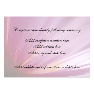 Kort för mottagande för rosablommaPetal Set Av Breda Visitkort