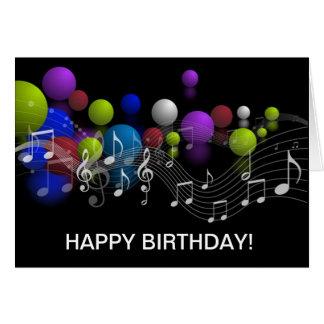 Kort för musik noterfödelsedaghälsning