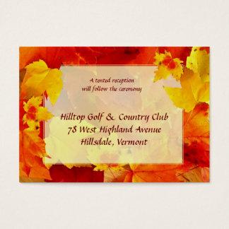 Kort för nedgångbröllopbilaga