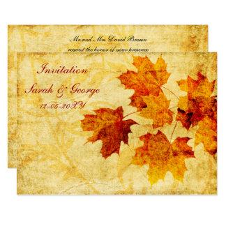 kort för nedgångbröllopinbjudan 12,7 x 17,8 cm inbjudningskort