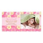 Kort för nyfödd bebisfotomeddelande skräddarsydda fotokort