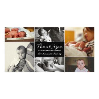 Kort för nyfödd bebistackfoto fotokort