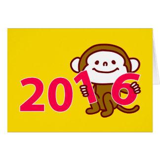 Kort för nytt år för 2016 apa