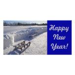 Kort för nytt år foto kort
