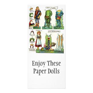 Kort för papper docka för vintage befordrings-