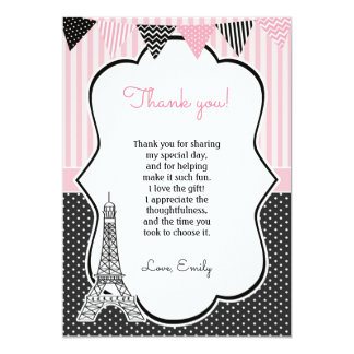 Kort för Paris Eiffel torntack 12,7 X 17,8 Cm Inbjudningskort