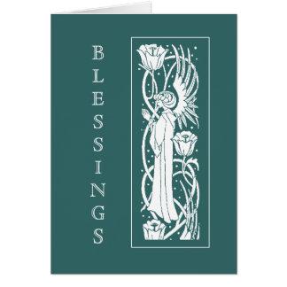 Kort för påsk för Beardsley art nouveauängel