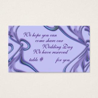 Kort för placering för bröllopmottagande