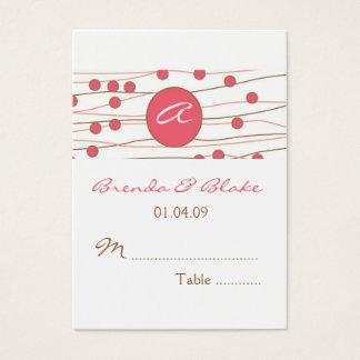 Kort för placering för Monogrambröllopbord