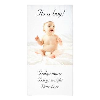 Kort för pojkemeddelandefoto fotokort