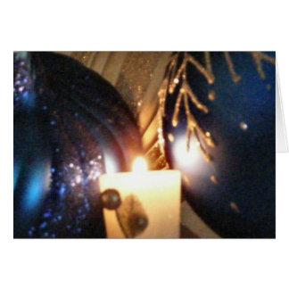 Kort för prydnad för helgdag för KRW-blåttjul
