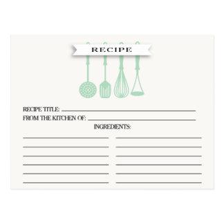 Kort för recept för möhippa för kökMintUtensils