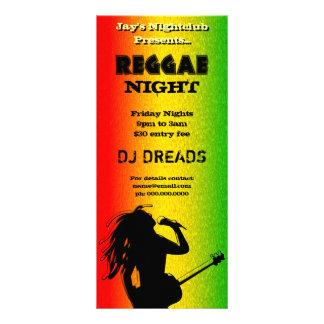 Kort för Reggaenattparty eller nattklubbkugge Reklamkort 10 X 23 Cm