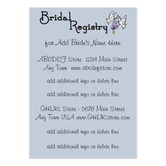 Kort för registrering för blått- och vitblommor set av breda visitkort