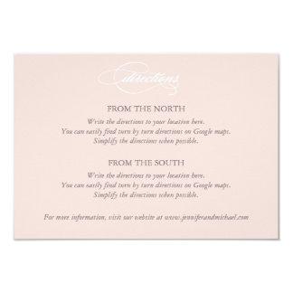 Kort för riktningar för bröllop för 8,9 x 12,7 cm inbjudningskort