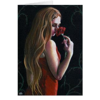 Kort för ro för röd nejlika för dam rosa gotiskt