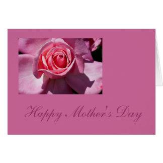 Kort för rosa rosmors dagblomma