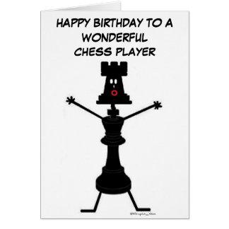 Kort för schackspelarefödelsedag