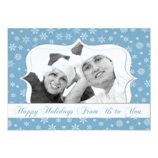 Kort för Snowflakefotohelgdag 12,7 X 17,8 Cm Inbjudningskort