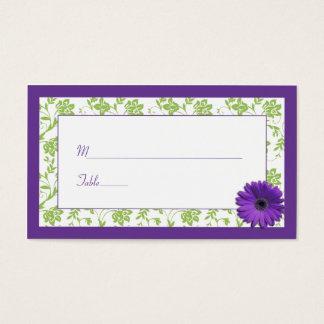 Kort för ställe för bröllop för purpurfärgad