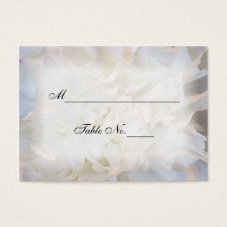 Kort för ställe för bröllop för vitnejlika blom-