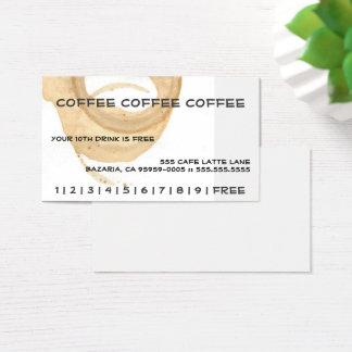Kort för stansmaskin för kaffekaffekaffe visitkort