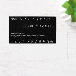 Kort för stansmaskin för lojalitetkaffedubbla visitkort