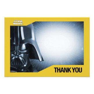 Kort för stjärnkrigDarth Vader tack Skräddarsydda Inbjudan
