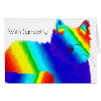 Kort för sympati för regnbågekatthusdjur