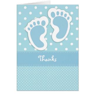 Kort för tack för baby med hjärtfelfottryck