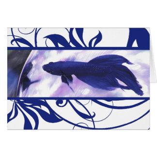 Kort för tack för blåttBetta fisk