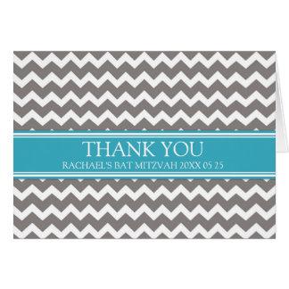 Kort för tack för blåttgrå färgsparre bat mitzvah