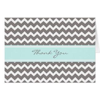 Kort för tack för bröllop för blåttgrå färgsparre