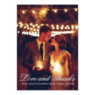 Kort för TACK för bröllop för Masonburkfoto Anpassningsbara Inbjudningskort