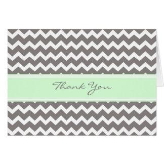 Kort för tack för bröllop för Mintgrå färgsparre