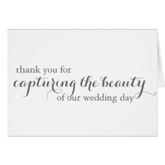 Kort för tack för bröllopfotograf (Videographer)
