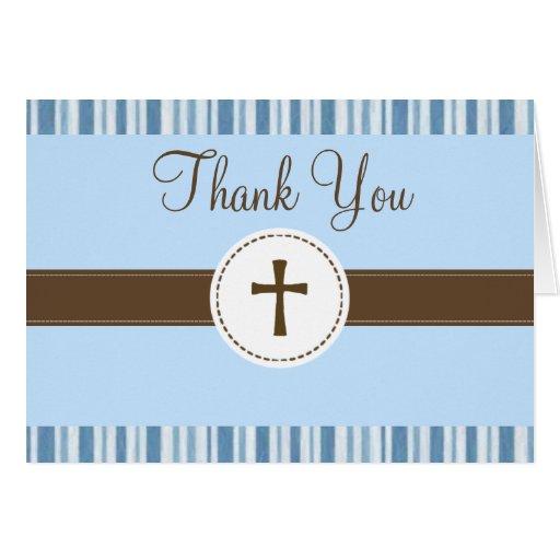 Kort för tack för Christeningblåttrand