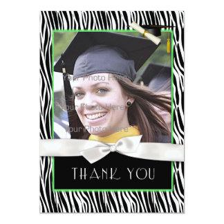 Kort för tack för foto för studenten för 12,7 x 17,8 cm inbjudningskort