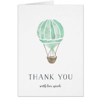 Kort för tack för Mintluftballongpersonlig