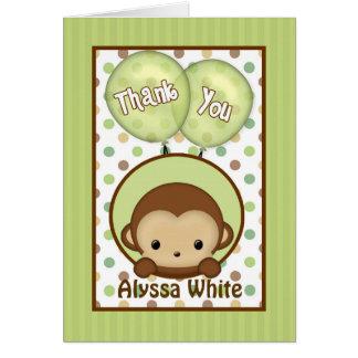 Kort för tackkort för apababy shower MPPv4 grönt