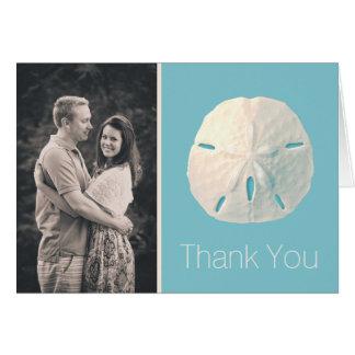 Kort för tackkort för foto för bröllop för
