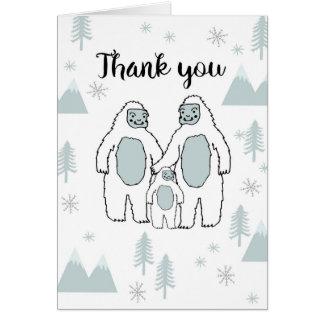 Kort för tackYetibaby av Andrea Lauren