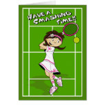 Kort för tennisflickafödelsedag