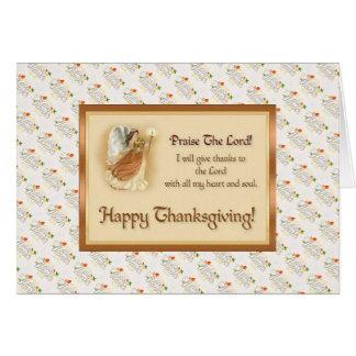 Kort för thanksgivingvälsignelsehälsning med